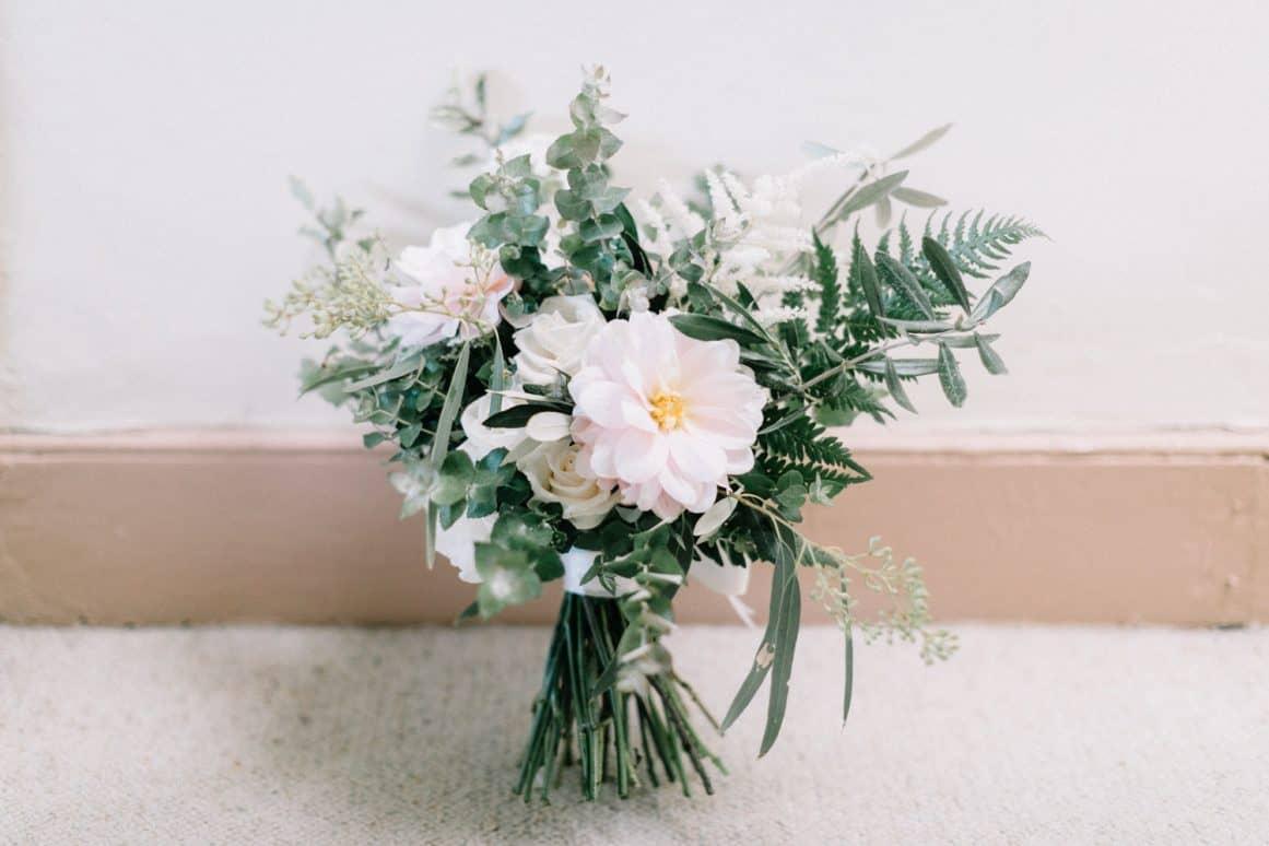Sydney Wedding Florist Garden Flowers Dahlia Pink Green White