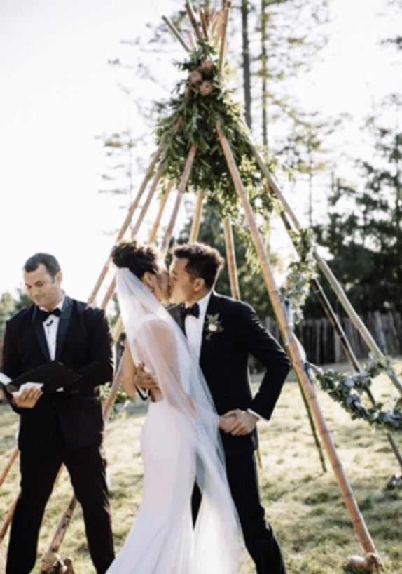 sydney ceremony hire packages styling prices tropical bamboo teepee beach