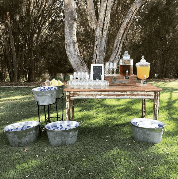 sydney wedding ceremony hire packages price drinks station