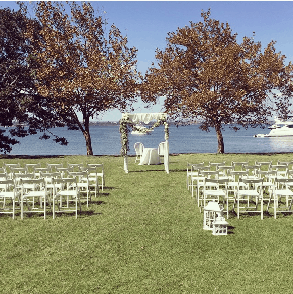 sydney wedding ceremony hire packages price garden white chairs rustic