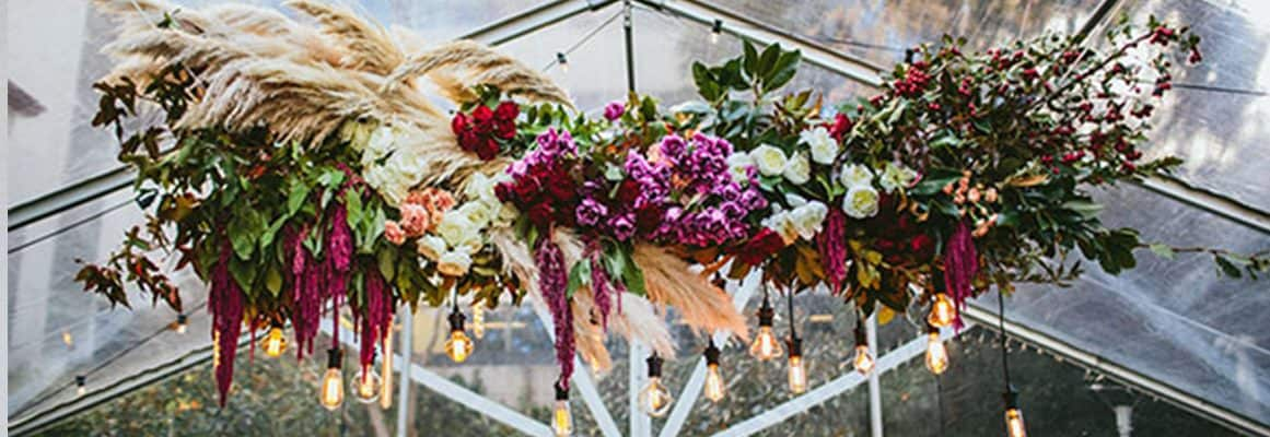 Why are wedding flowers so expensive? The true costs behind your wedding florals. Part Three. Hanging flowers and roof installations.