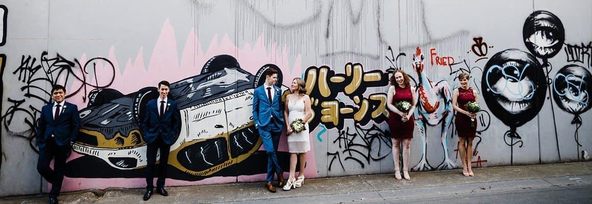 sydney wedding urban laneway venue grafitti
