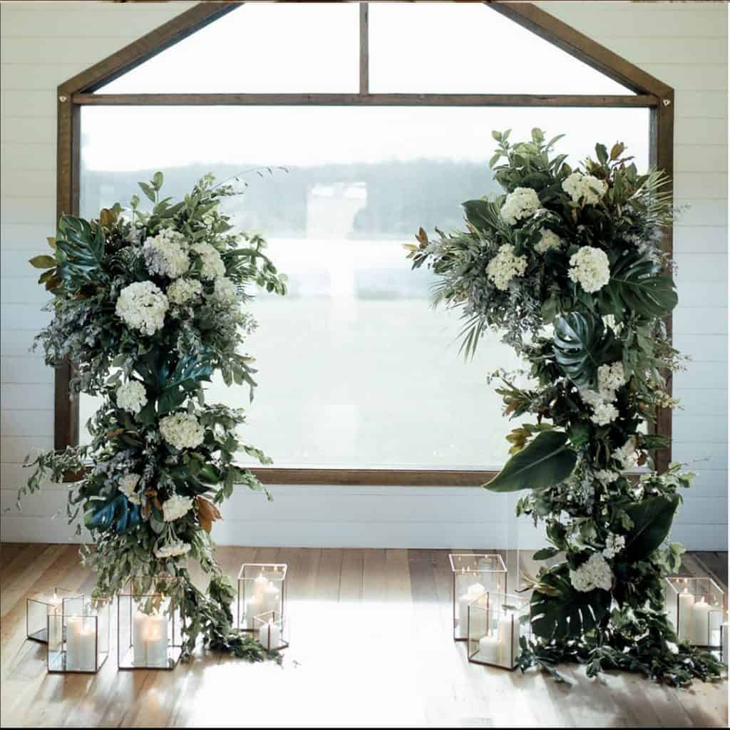 Freestanding Floral Towers - $100 each   gst Note: frames only. Does not included florals.