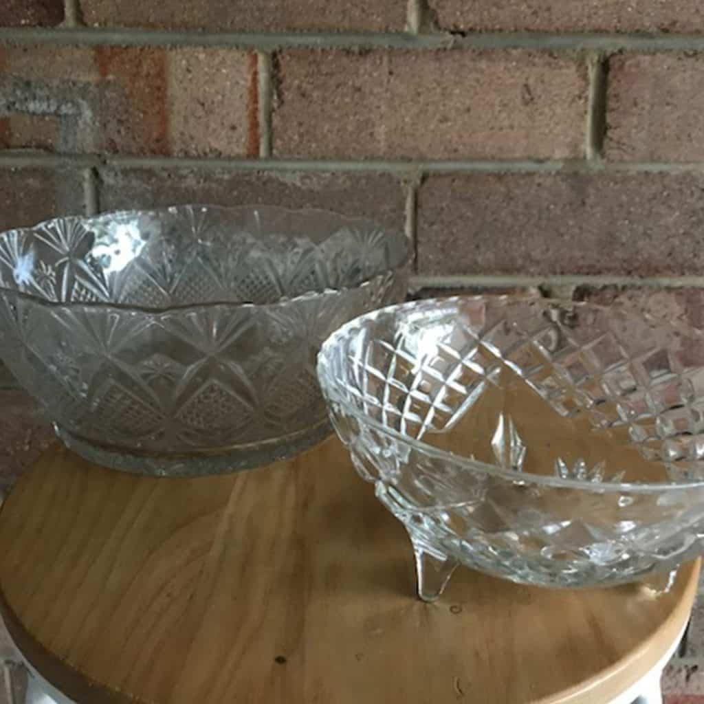 Vintage Cut Glass Bowls   Vases (various sizes)