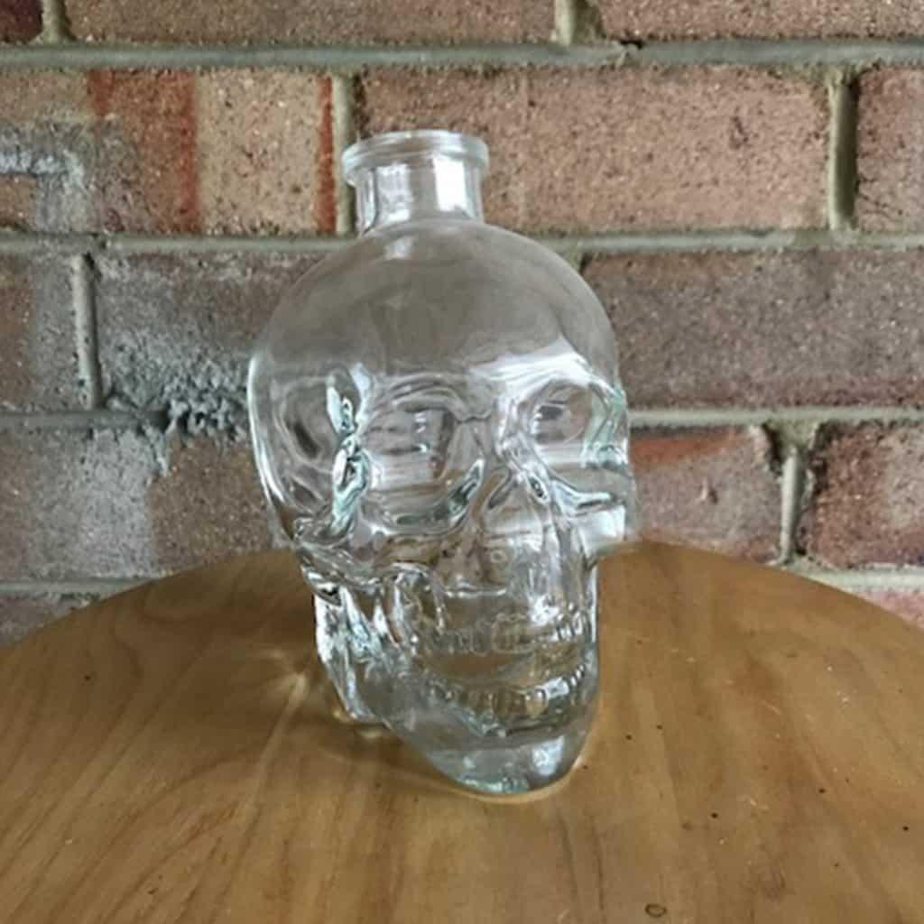 Glass Skull Bottles - 6 available