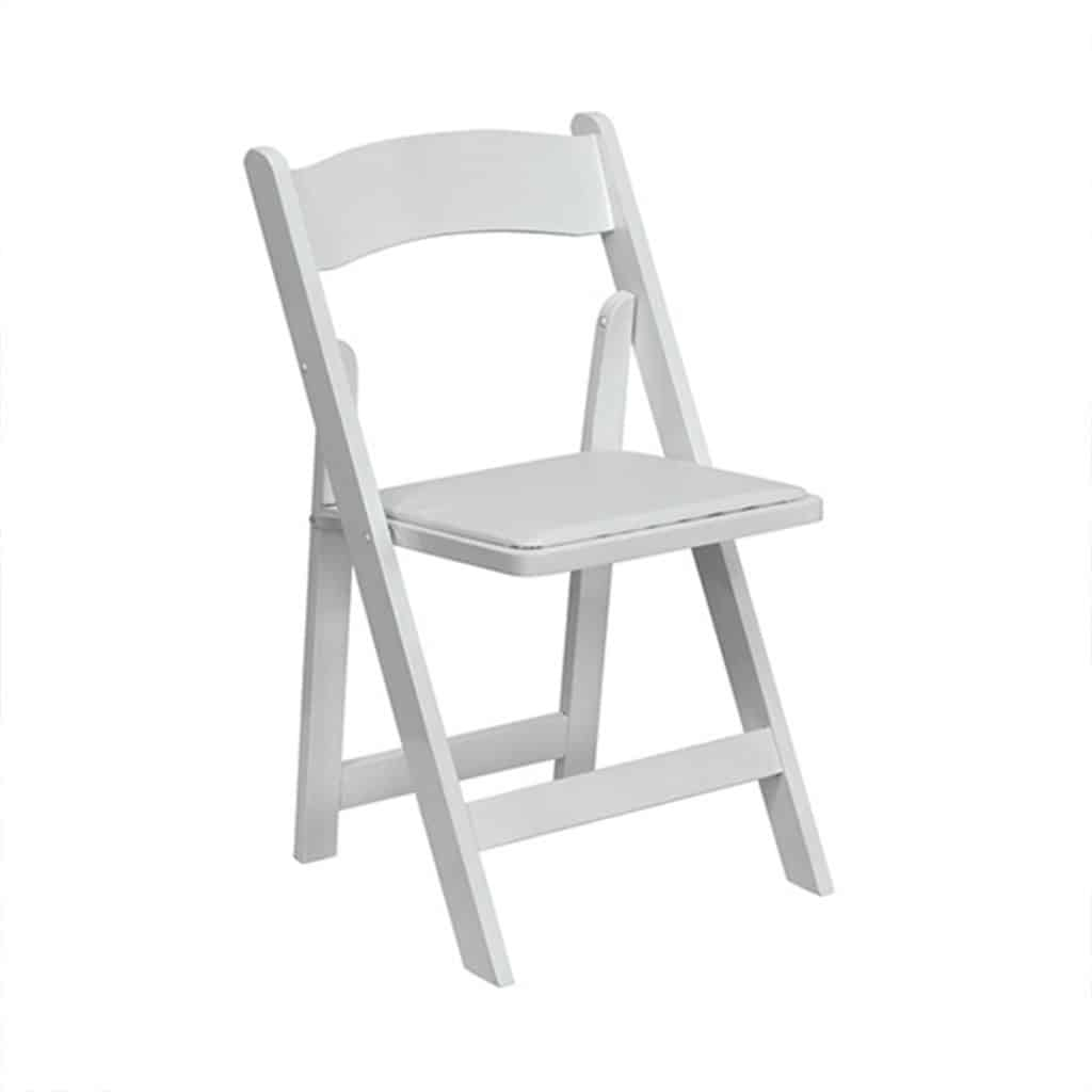 White Folding Chair -  32 Available.