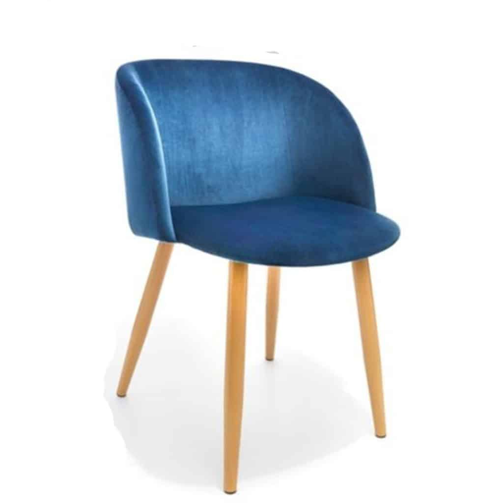 Blue Velvet Chair -  2 available.