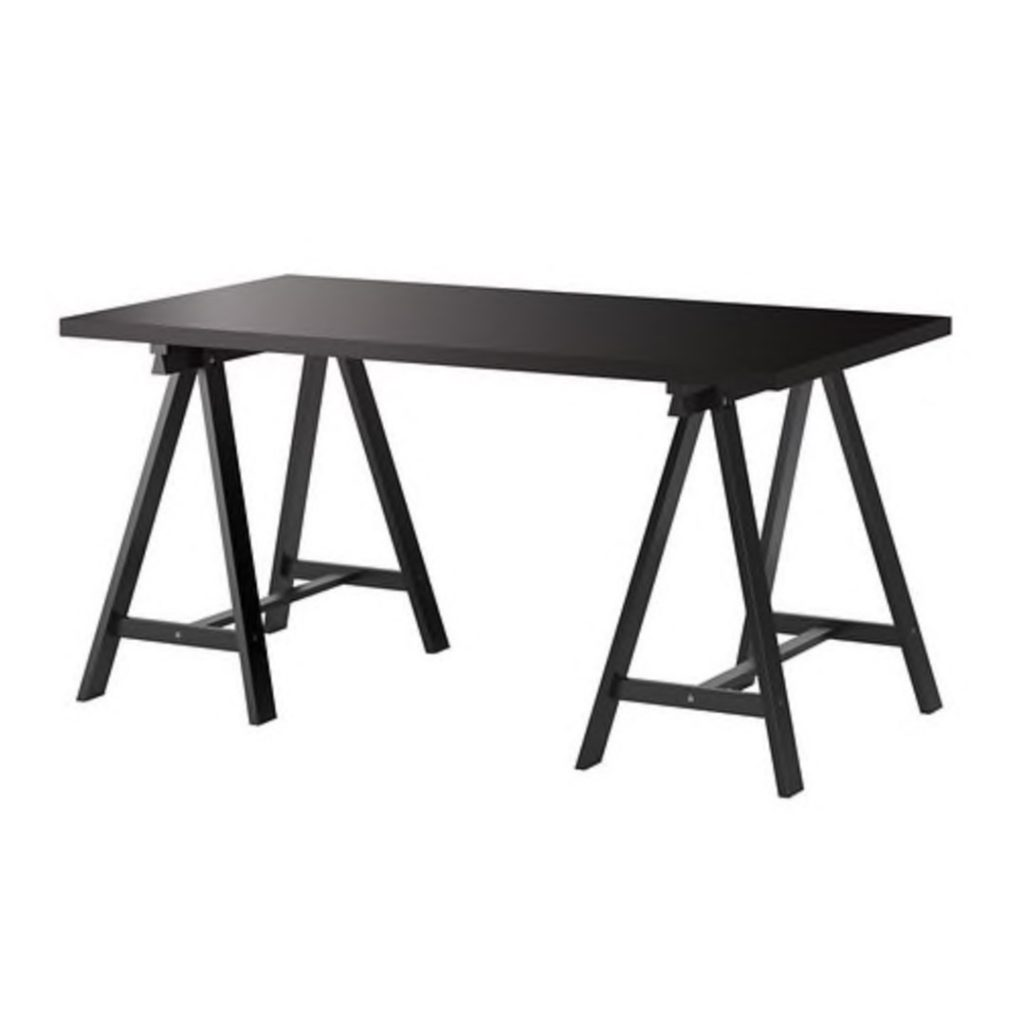 Black Trestle Table - 1.5m