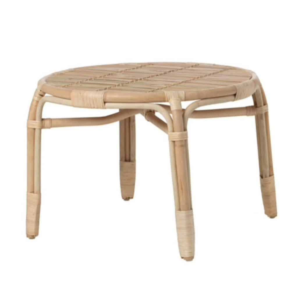 Tan Cane Side Table