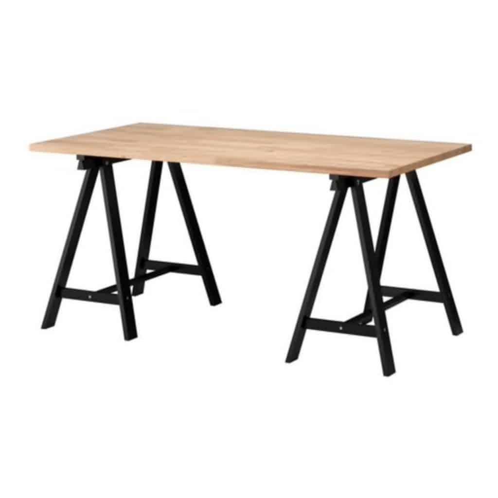 Tan Trestle Table