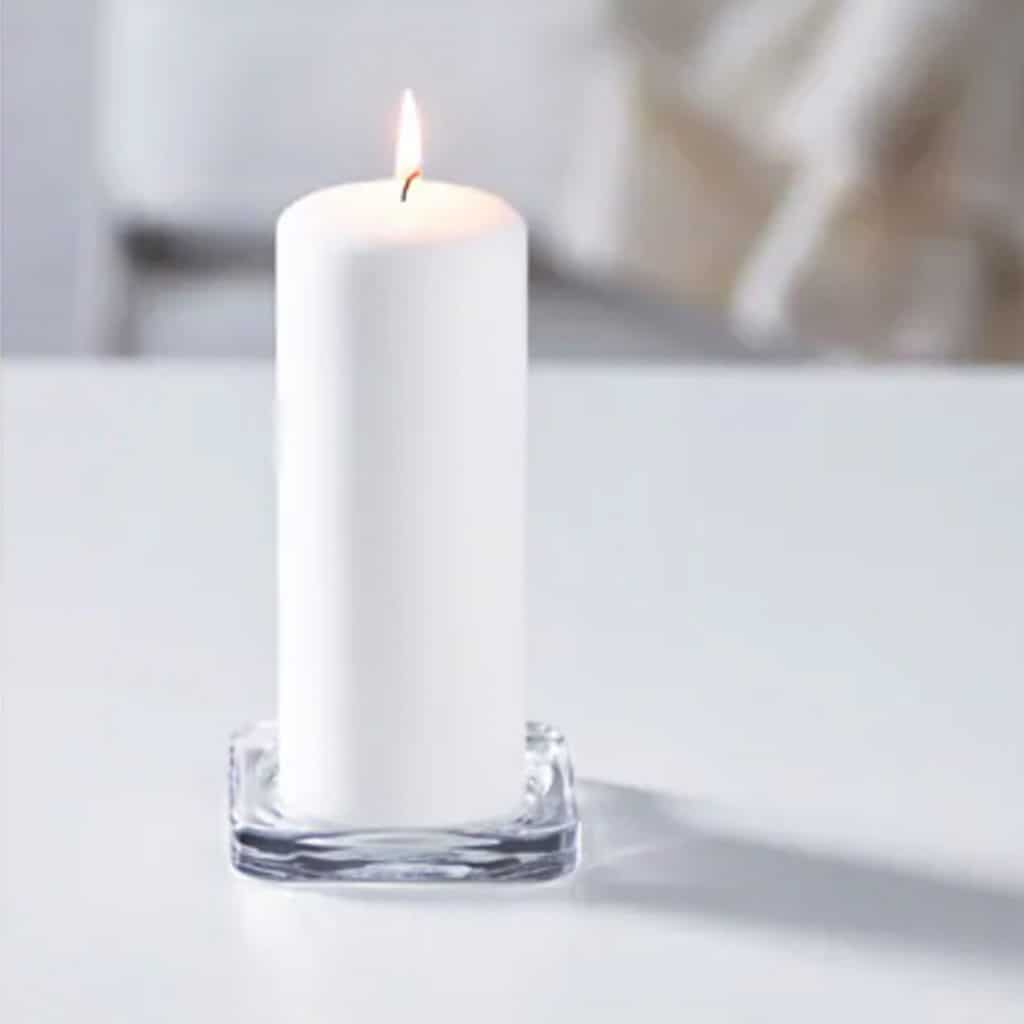 Pillar Candle Glass Plate - $0.50 each   gst - 40 available