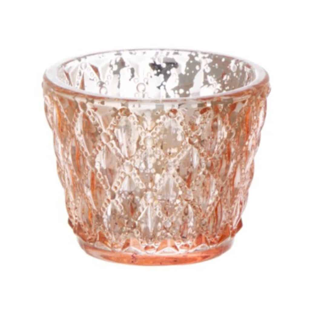 Copper Diamond Pattern Tea light Holder - 30 available