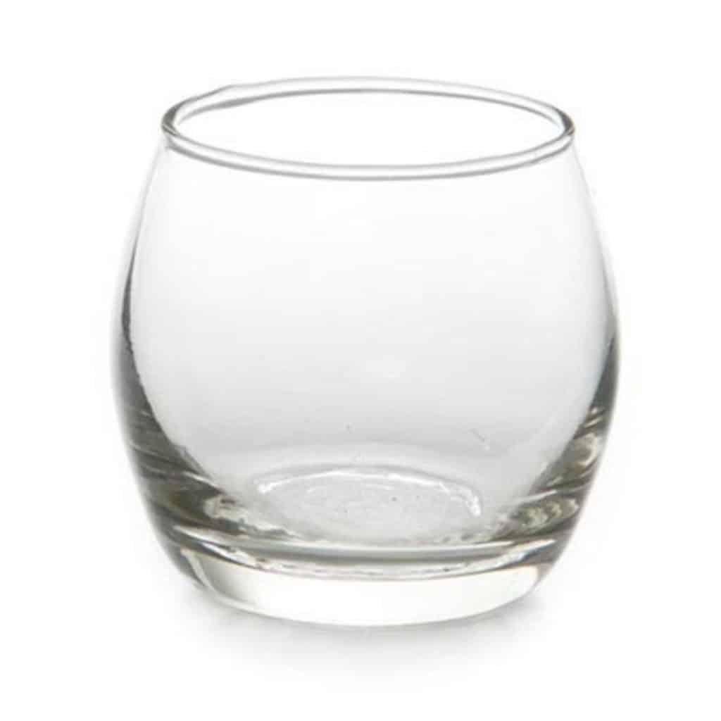 Glass Tea Light Holder - $0.60 each   gst - 40 available
