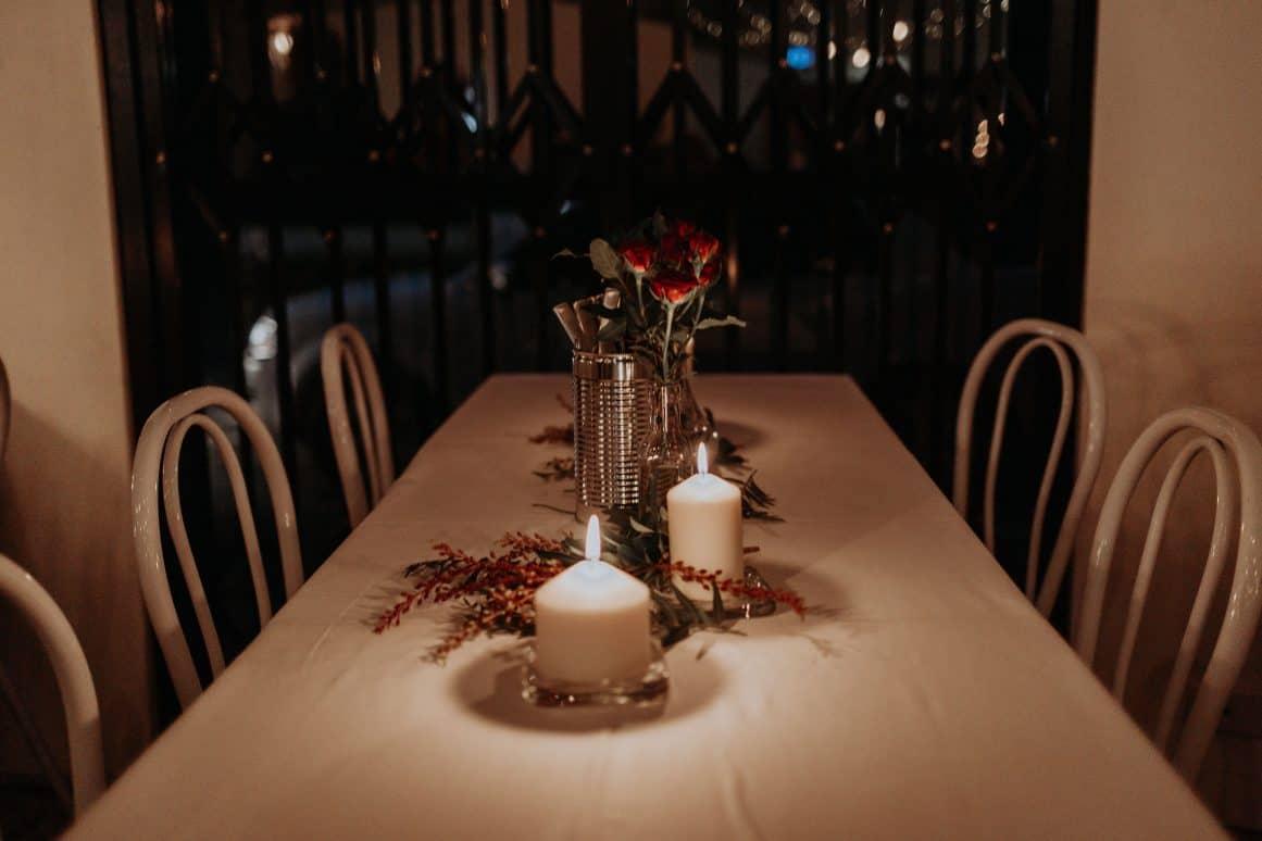 sydney-wedding-venue-warehouse-freedom-hub-styling-florist-mini-vase-candles