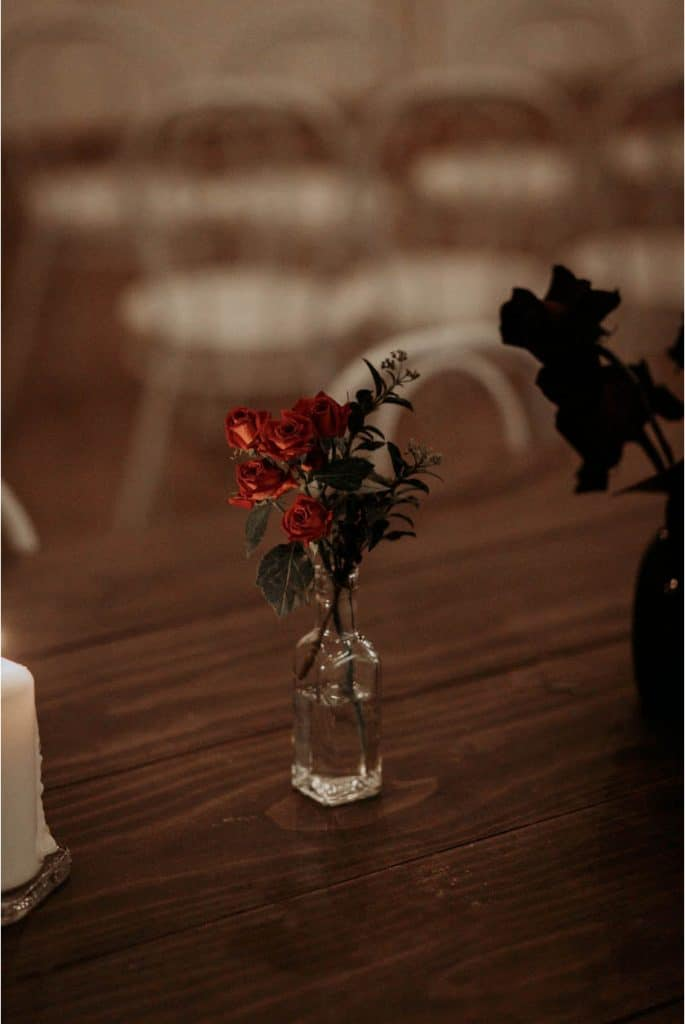 sydney-wedding-venue-warehouse-freedom-hub-styling-florist-rose-red-bud-vase