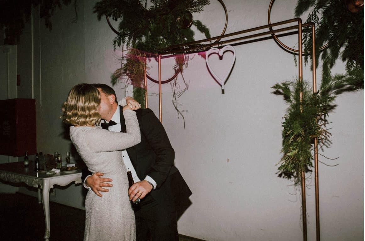 sydney-wedding-venue-warehouse-industrial-copper-arch-neon-sign