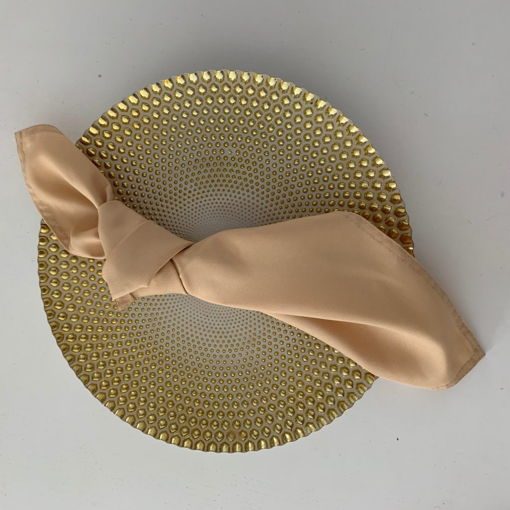 Coloured napkin - Champagne.  140 available.