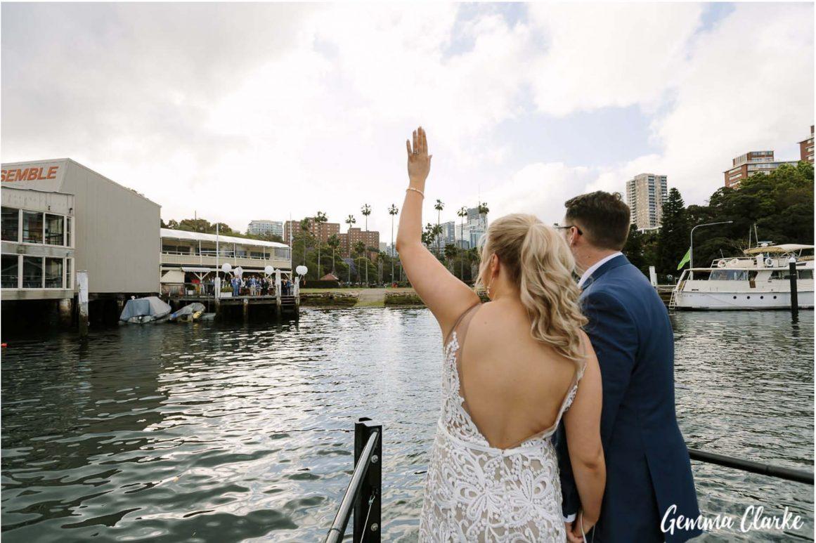 sydney-wedding-reception-packages-flying-squadron-kirribillii-ferry-arrival