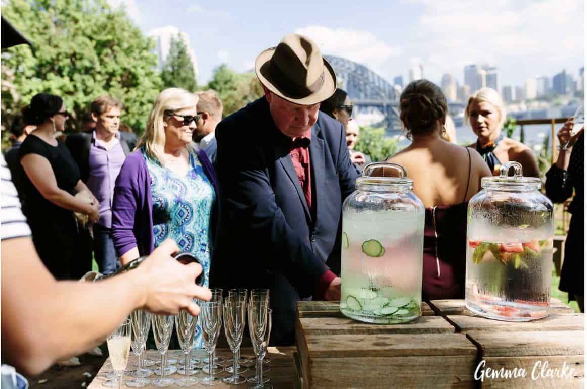wedding-ceremony-hire-packages-lavender-bay-clark-park-sydney-drinks-station