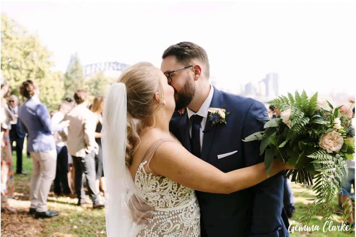 wedding-ceremony-hire-packages-lavender-bay-clark-park-sydney-kissing