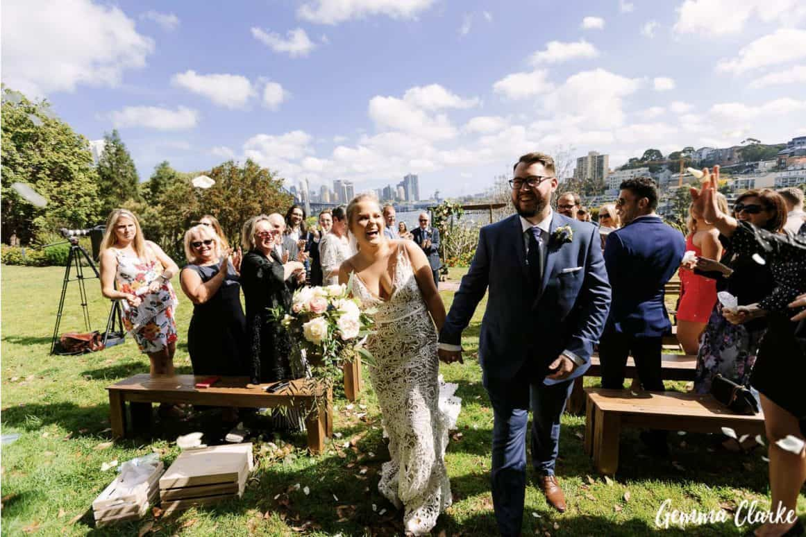 wedding-ceremony-hire-packages-lavender-bay-clark-park-sydney-rustic-arch