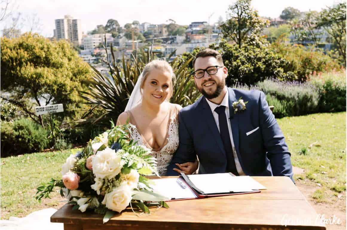 wedding-ceremony-hire-packages-lavender-bay-clark-park-sydney-signing