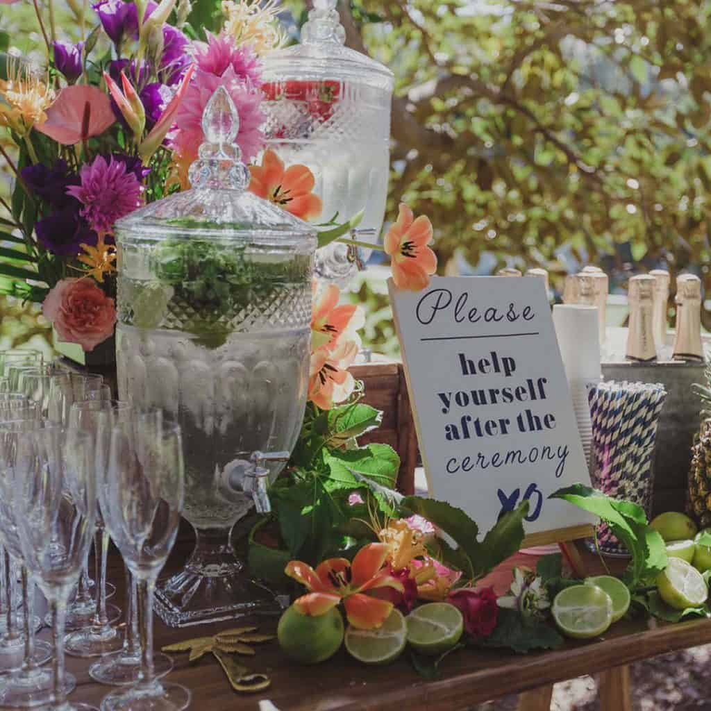 drinks station ceremony wedding sydney hire