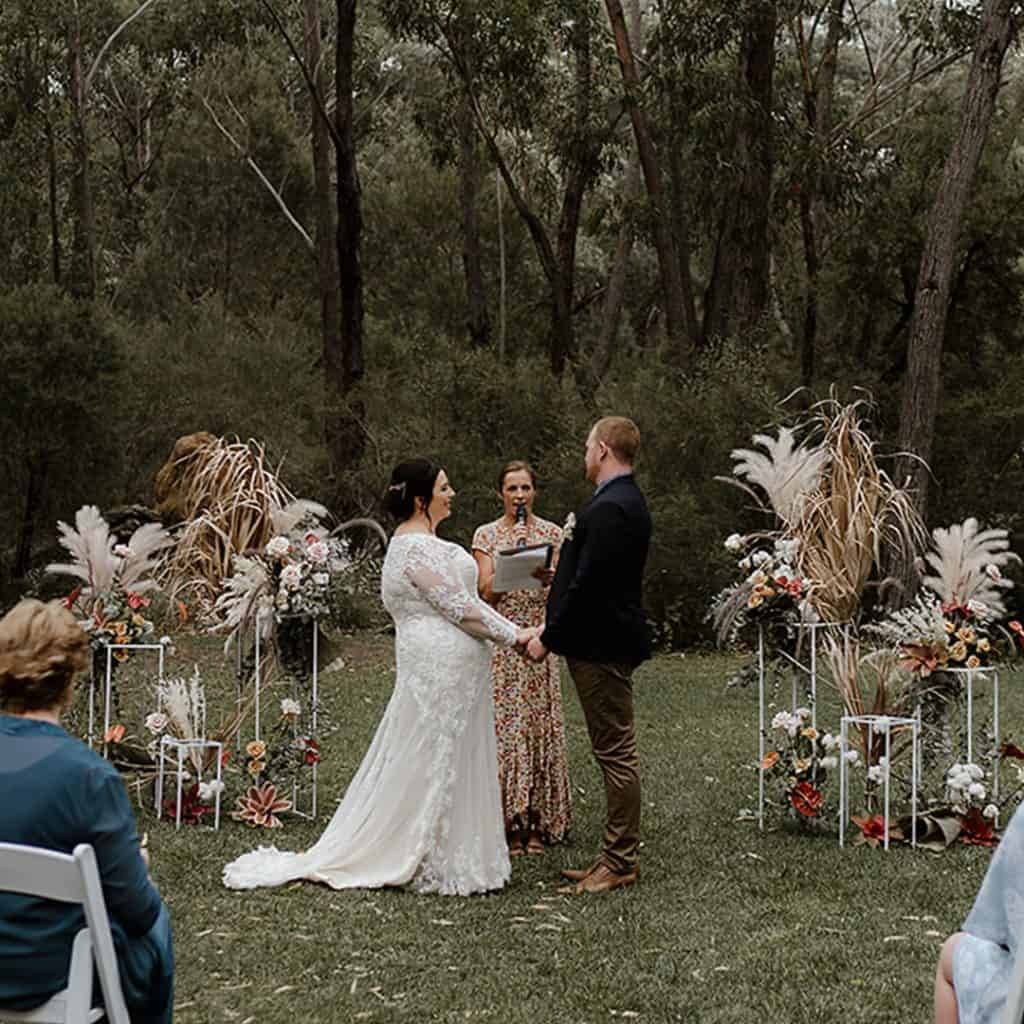 wedding cermeony hire packages styling boho sydney