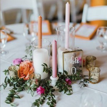 sydney wedding candle hire pink
