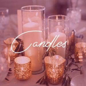sydney wedding hire candles styling packages