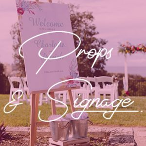sydney wedding hire packages welcome board