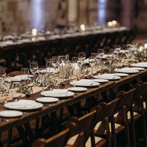 sydney wedding stylist hire wooden table candles