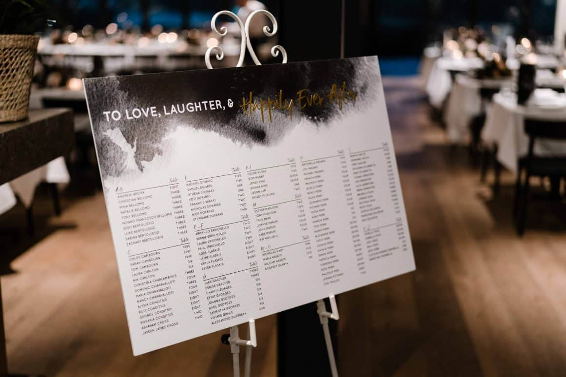 Oliveto-Ristorante-Bar-rhodes-wedding-styling-seating-chart-price-gold-black