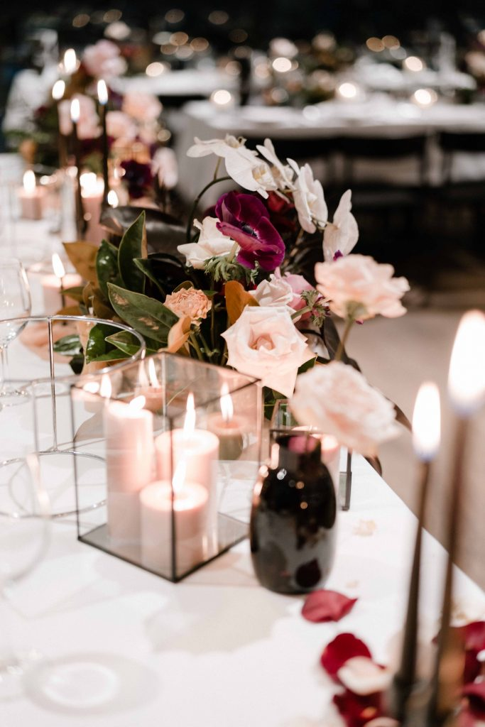 Oliveto-Ristorante-Bar-rhodes-wedding-styling-tall-black-candles-sydney-hire