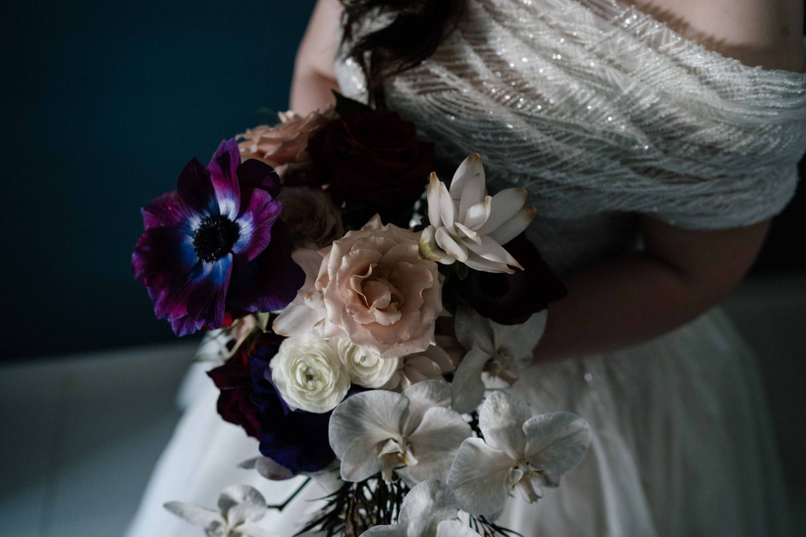 wedding-flowers-bride-bouquet-florist-sydney-orchids-blush-black-purple-gold-moody