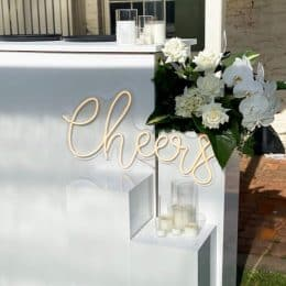 """Cheers"" neon sign - 1 available"