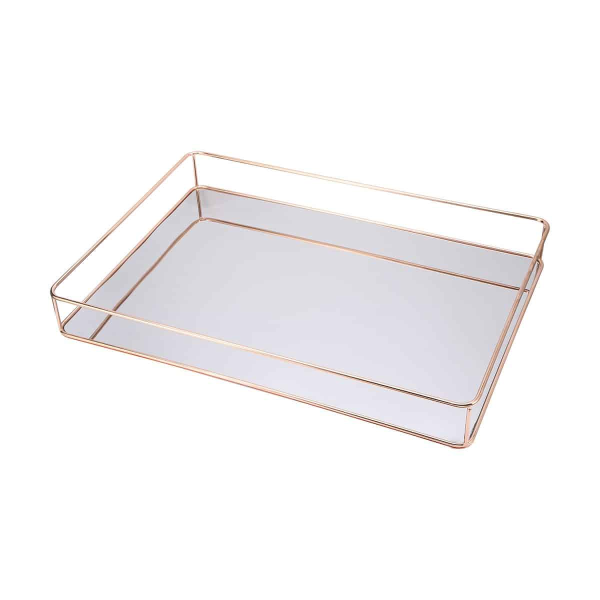 Gold mirror serving tray - 1 available