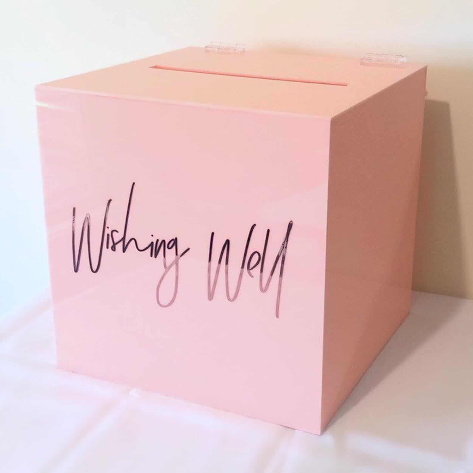 Wishing well - acrylic pink - 1 available