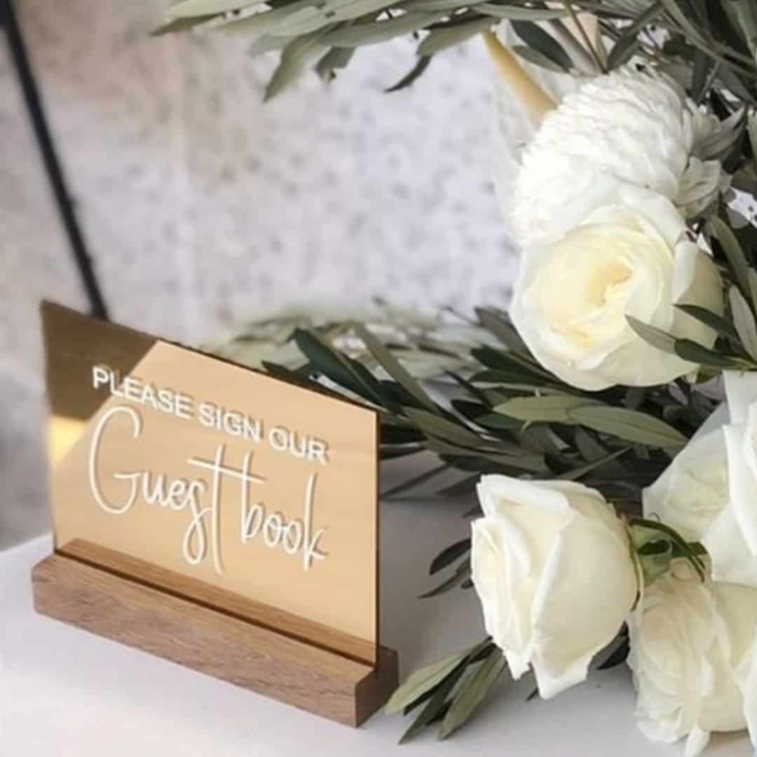 Rose Gold guest book sign