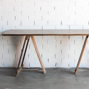 White Wash Trestle Table, 1.9m